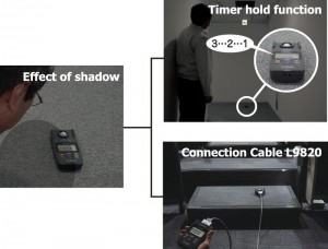 Measure illuminance free of the effects of shadows