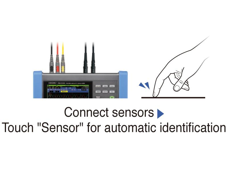 Automatic sensor detection to avoid erroneous measurement