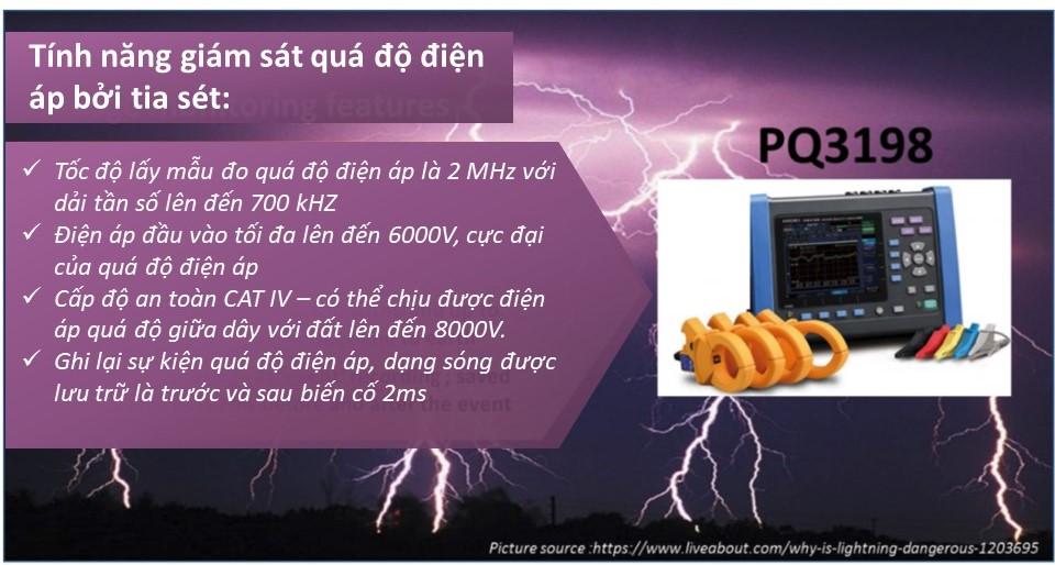 tính năng thiết bị giám sát hiệu quả hệ thống chống quá điện áp xung