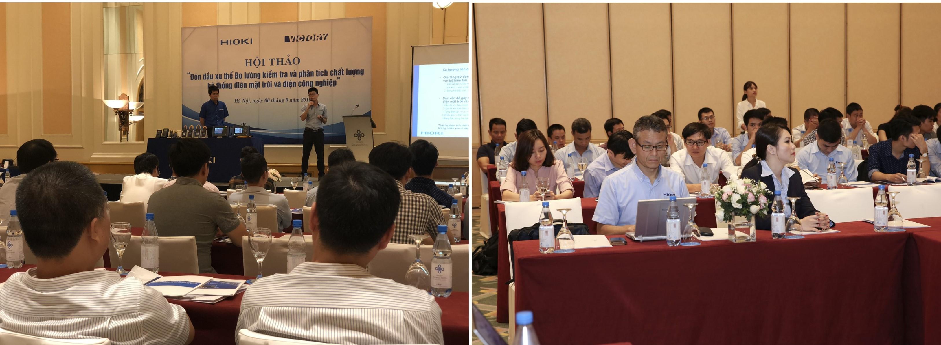 hội thảo kiểm tra chất lượng điện mặt trời Hioki