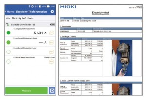 Hioki CM3286_Electricity theft detection-and-report function (CM3286-01 only)